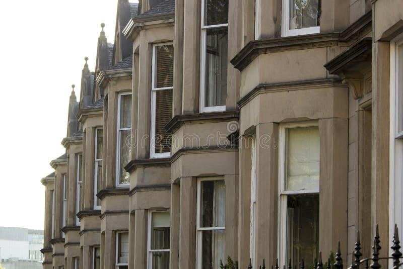 Jednolitość domy w Brytania, Szkocja zdjęcia stock