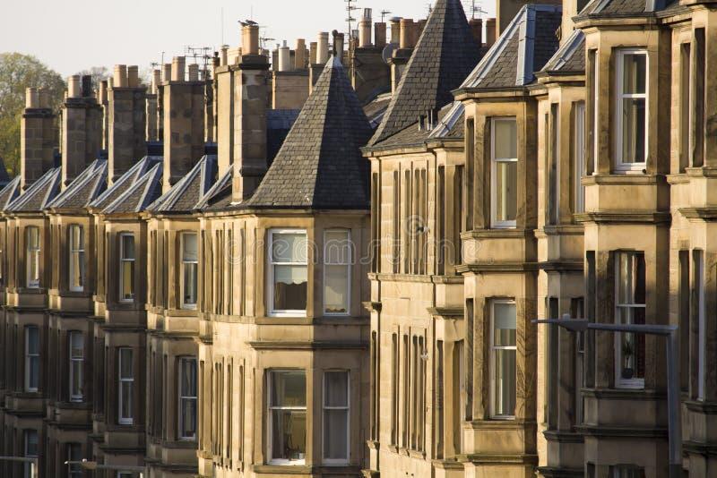 Jednolitość domy w Brytania, Szkocja obrazy royalty free