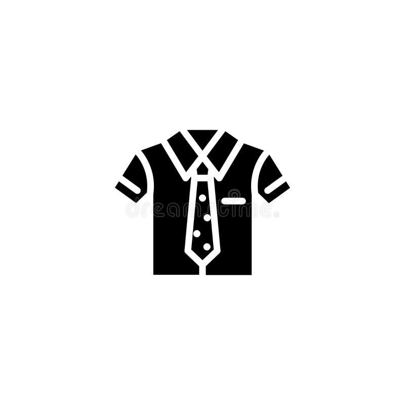 Jednolity czarny ikony pojęcie Jednolity płaski wektorowy symbol, znak, ilustracja royalty ilustracja