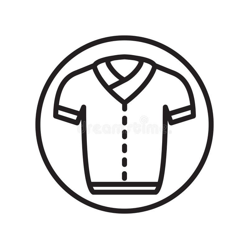 Jednolity ikona wektor odizolowywający na białym tle, munduru znak, liniowi sportów symbole royalty ilustracja