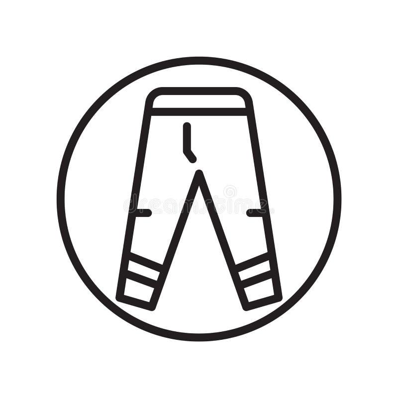 Jednolity ikona wektor odizolowywający na białym tle, munduru znak, liniowi sportów symbole ilustracja wektor