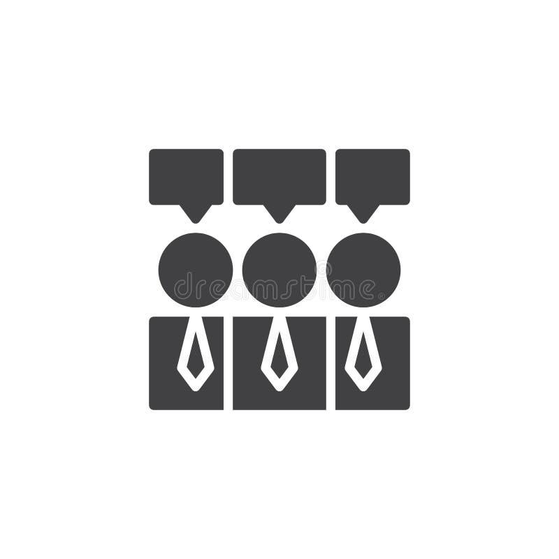 Jednomyślność wektoru ikona ilustracji