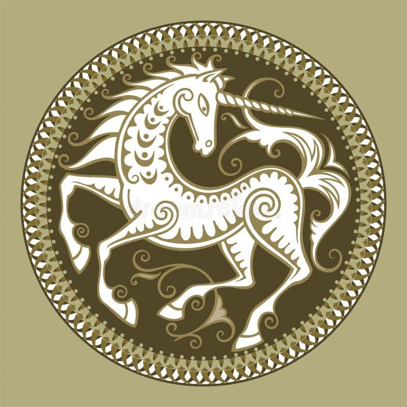jednorożec abstrakcyjne wektora royalty ilustracja