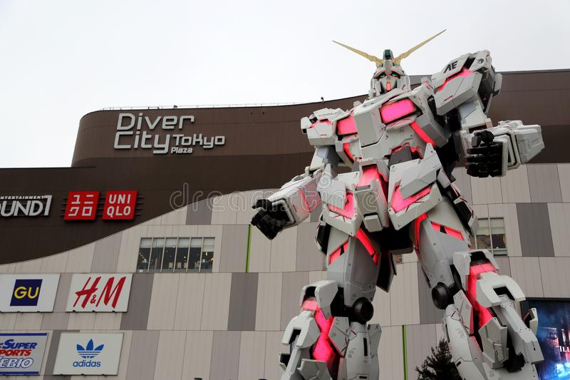 Jednorożec Gundam fotografia stock