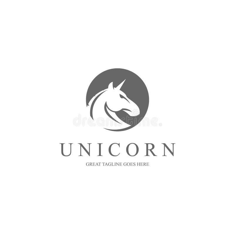 Jednorożec logo royalty ilustracja