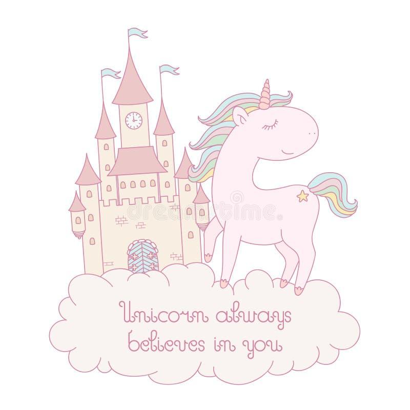 ` jednorożec zawsze wierzy w tobie ` kartę ilustracji