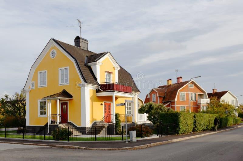 Jednorodzinni domy, zdjęcie royalty free