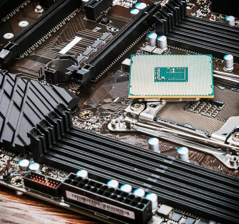 JEDNOSTKA CENTRALNA procesor i nasadka zdjęcie royalty free