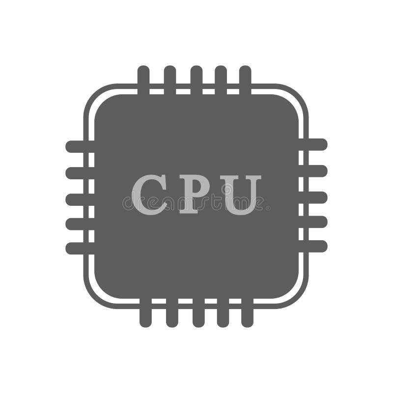 JEDNOSTKA CENTRALNA procesoru ikona royalty ilustracja