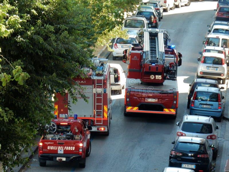 Jednostka Straży Pożarnej pojazdy ratunek fotografia stock