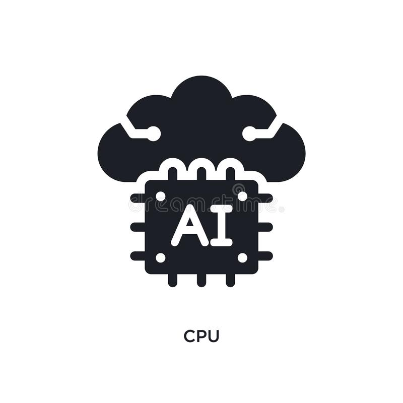jednostki centralnej odosobniona ikona prosta element ilustracja od sztucznej inteligencji pojęcia ikon jednostka centralna logo  ilustracji
