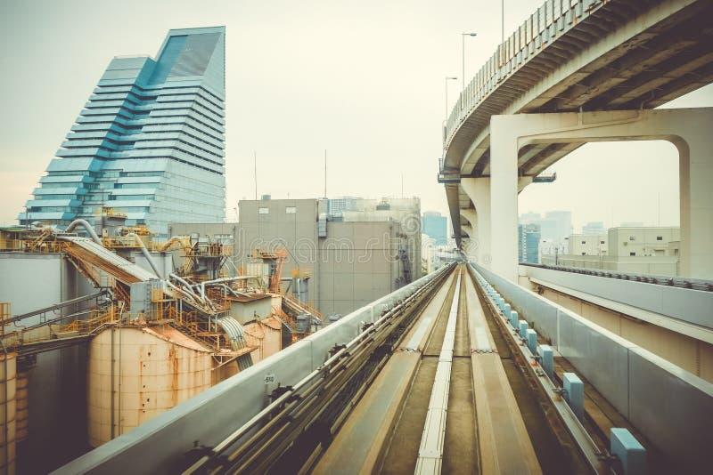 Jednoszynowy na tęcza moscie, Tokio, Japonia zdjęcie royalty free