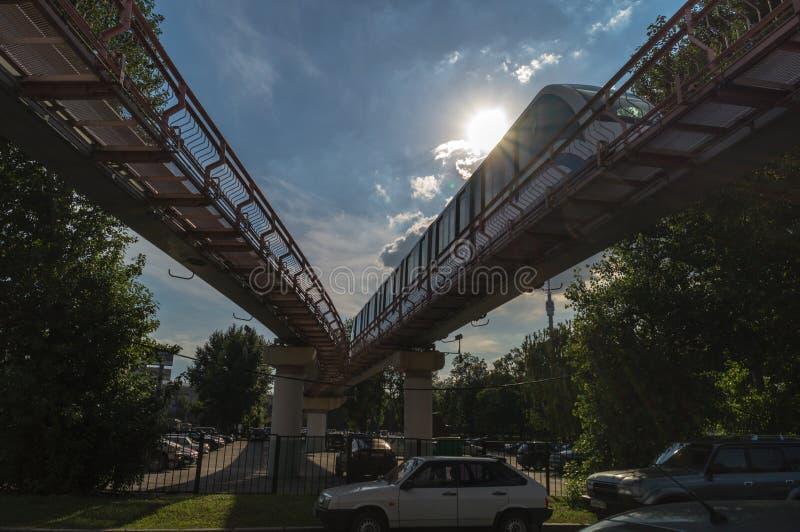 Jednoszynowy w Moskwa zdjęcia stock
