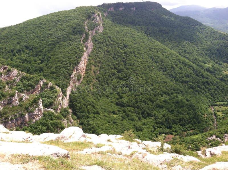 Jedurdouz cliff in Shushi stock photos
