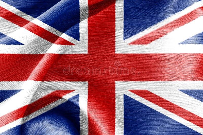 Jedwab flaga wielki Britain fotografia stock