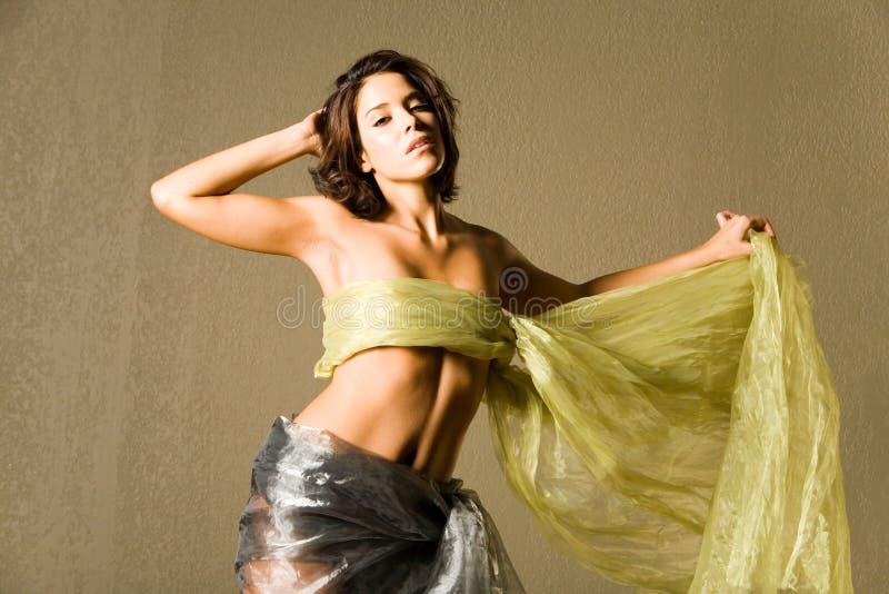 jedwabna piękna kobieta zdjęcie stock