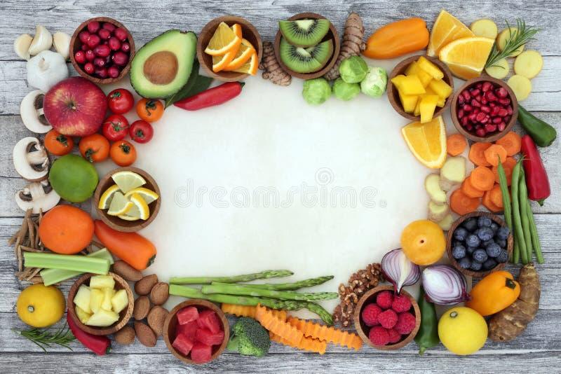 Jedzeń zdrowie na dobre zdjęcie stock