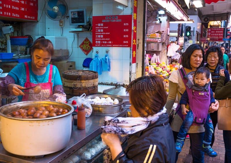 Jedzenia Hong stoiskowy kong zdjęcia royalty free