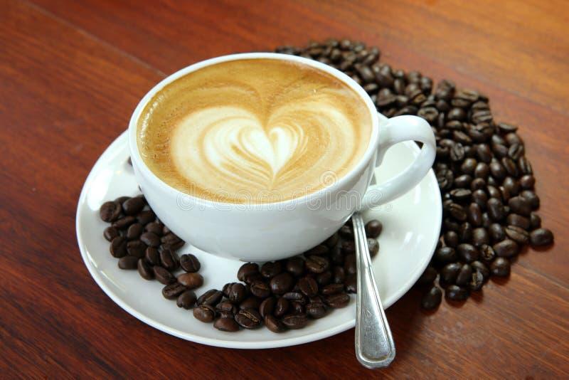 Jedzenia i napoju kawa przy jeden wakacje obraz stock