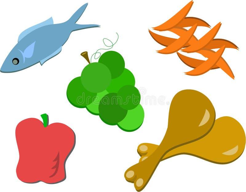 jedzenia mieszają smakowitego ilustracji