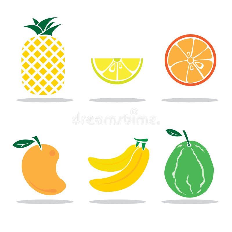 Jedzenia & napoju grzanki ustalony lody ilustracji