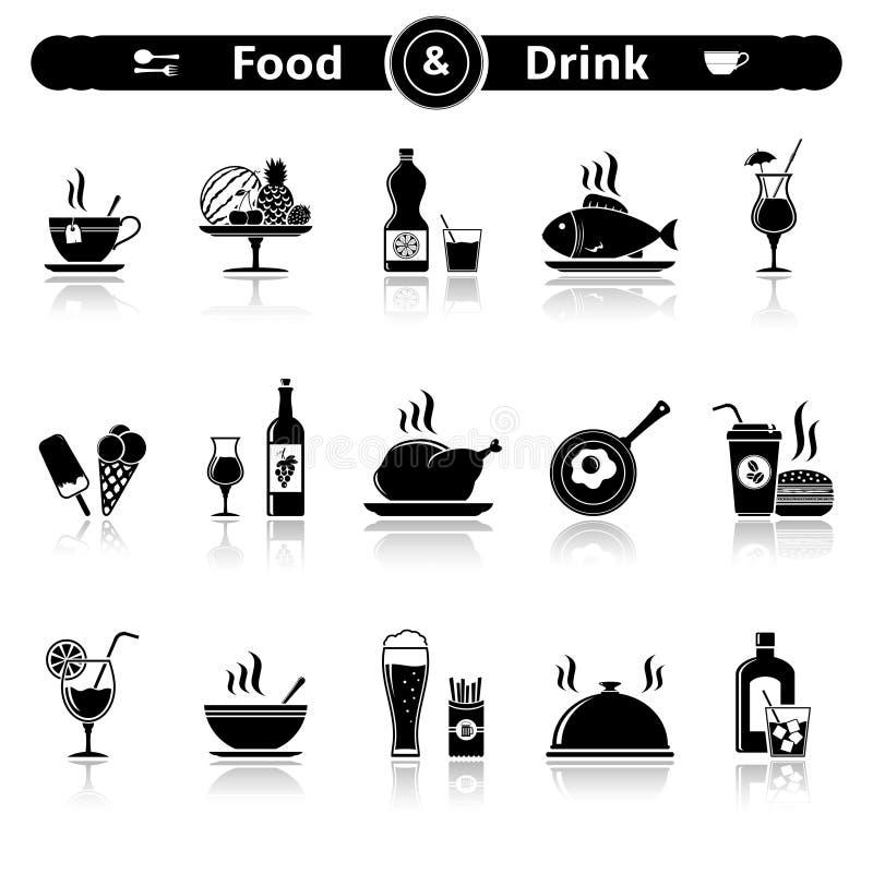 Jedzenia & napoju ikony royalty ilustracja
