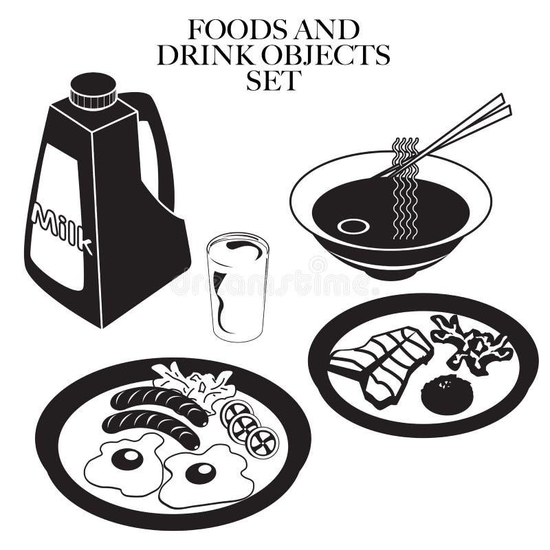 Jedzenia out kreskowy d royalty ilustracja