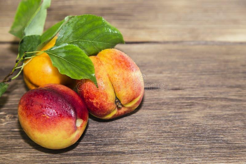 Jedzenie, świeża owoc, słodki deser Trzy dojrzała świeża witamina soczysta zdjęcia stock