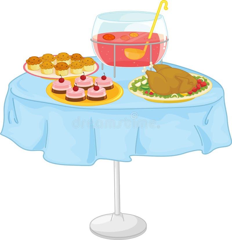 jedzenie royalty ilustracja