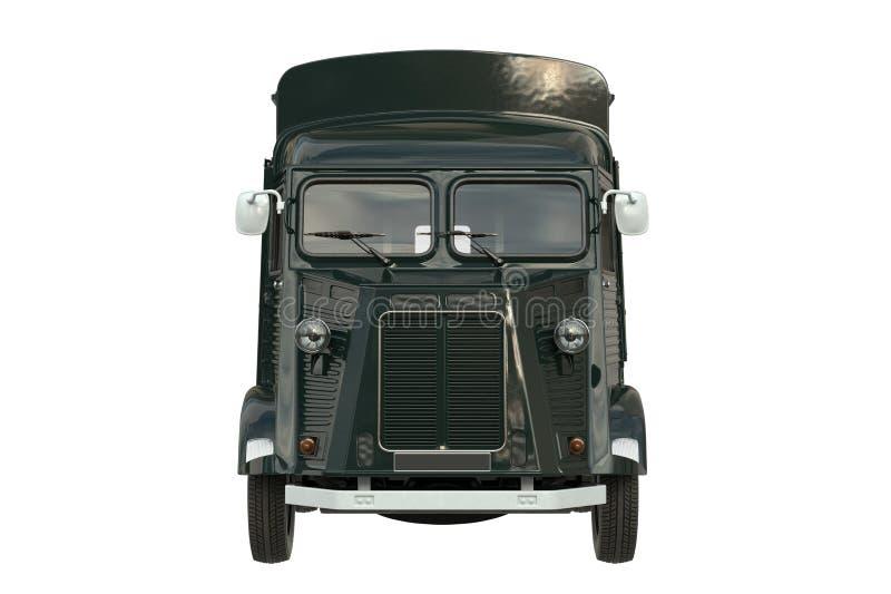 Jedzenie ciężarówka, frontowy widok royalty ilustracja