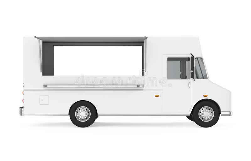 Jedzenie ciężarówka Odizolowywająca ilustracji