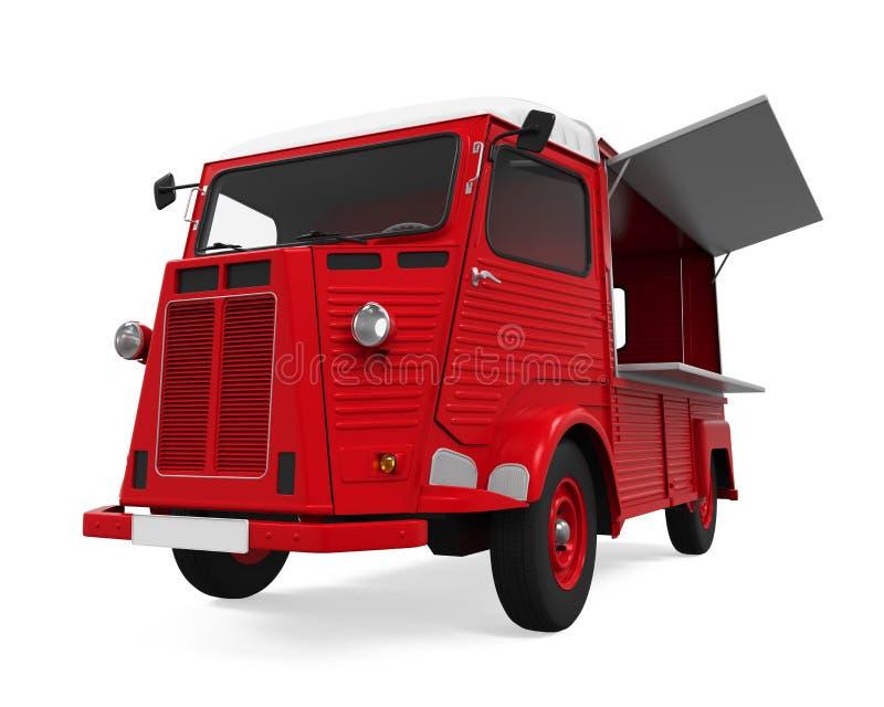 Jedzenie ciężarówka Odizolowywająca royalty ilustracja
