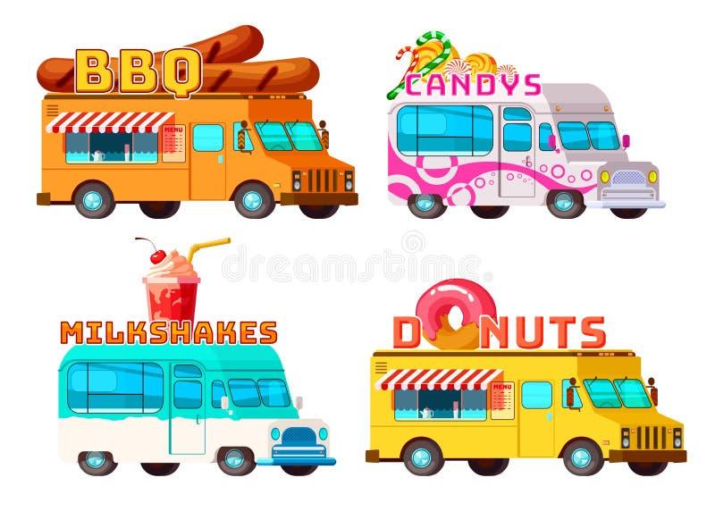 Jedzenie ciężarówki Ustawiać royalty ilustracja