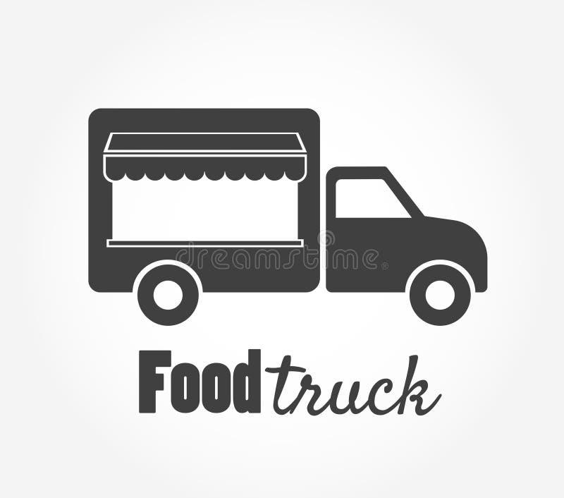 Jedzenie ciężarowa ikona ilustracji