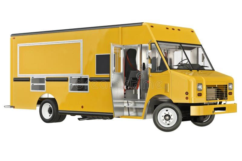 Jedzenie ciężarowa mobilna knajpa royalty ilustracja