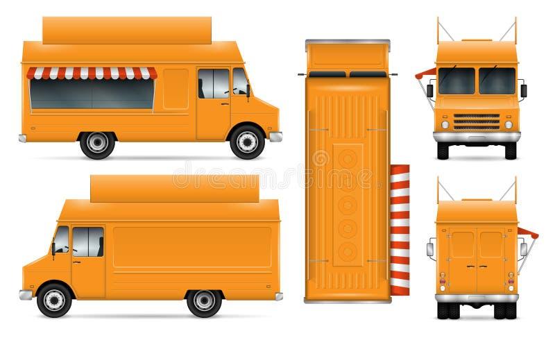 Jedzenie Ciężarowa wektorowa ilustracja ilustracji