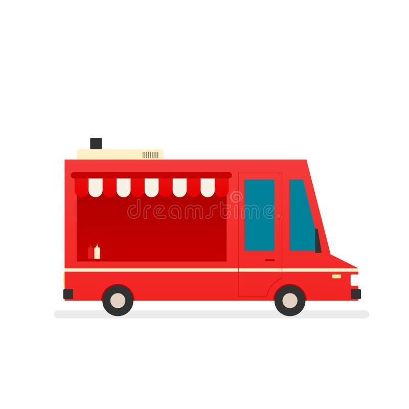 Jedzenie ciężarowy wektor ilustracji