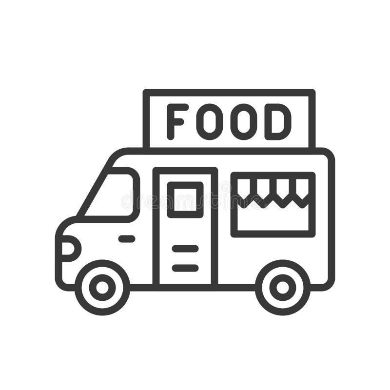 Jedzenie ciężarowy wektor, kreskowego stylu uderzenia editable ikona ilustracja wektor
