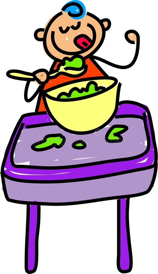 jedzenie dla dzieci royalty ilustracja