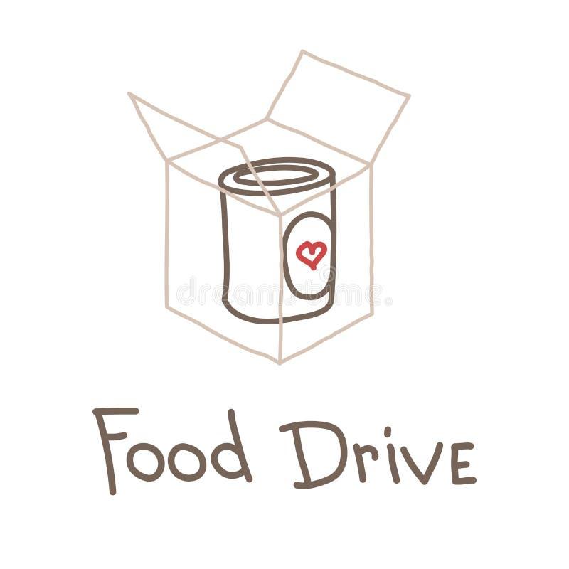 Jedzenie dobroczynności Prowadnikowy ruch, wektorowa ilustracja ilustracja wektor