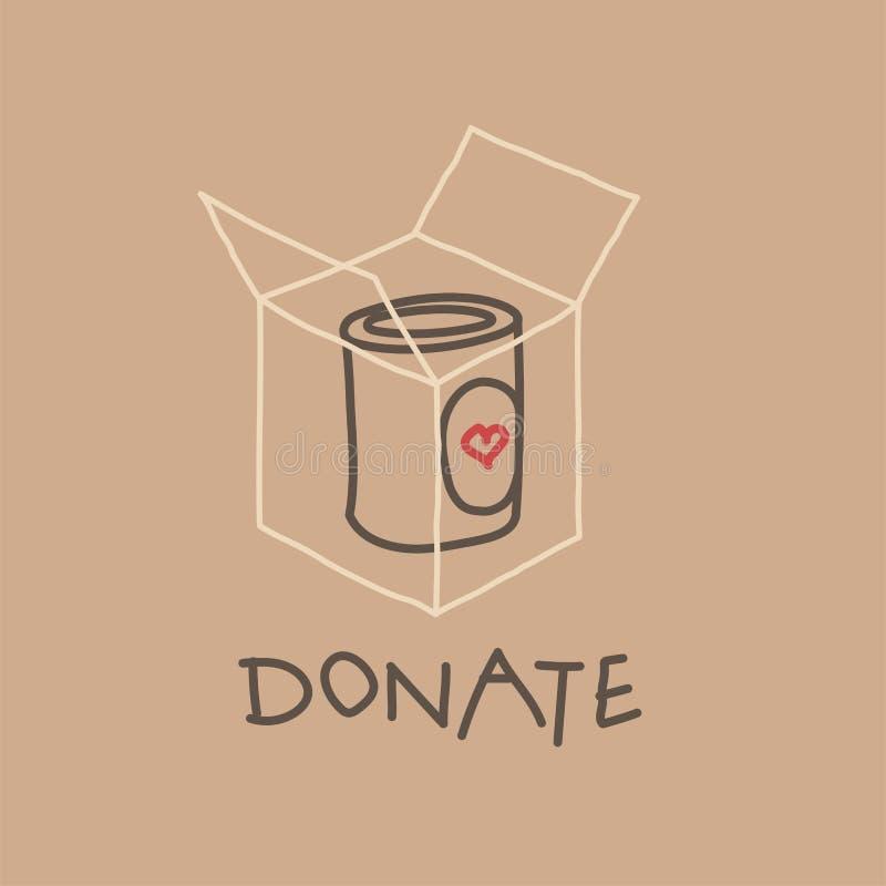 Jedzenie dobroczynności Prowadnikowy ruch, wektorowa ilustracja ilustracji