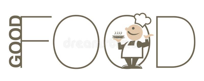 jedzenie dobry ilustracja wektor