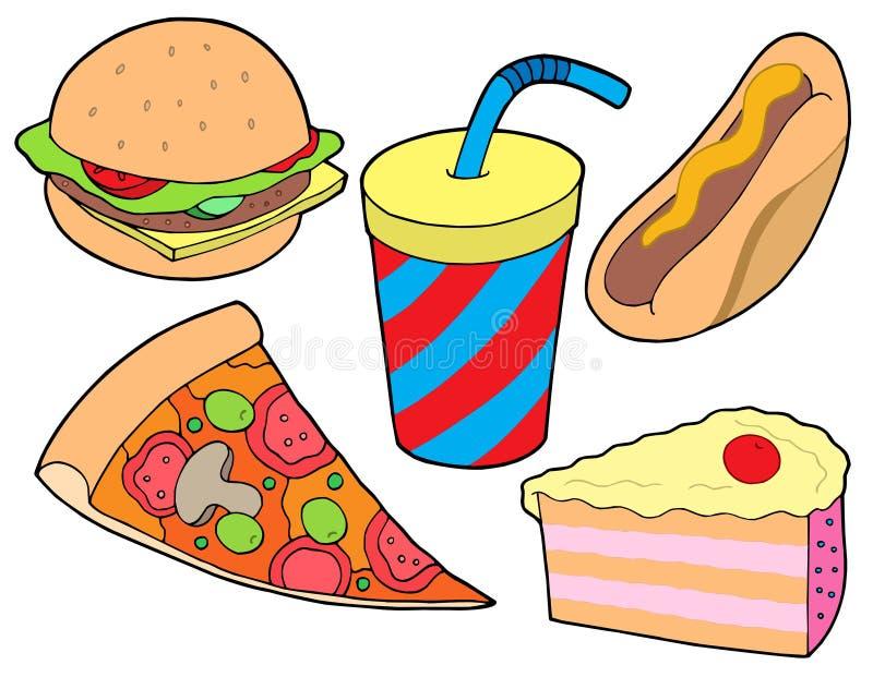 jedzenie gromadzenia danych ilustracja wektor