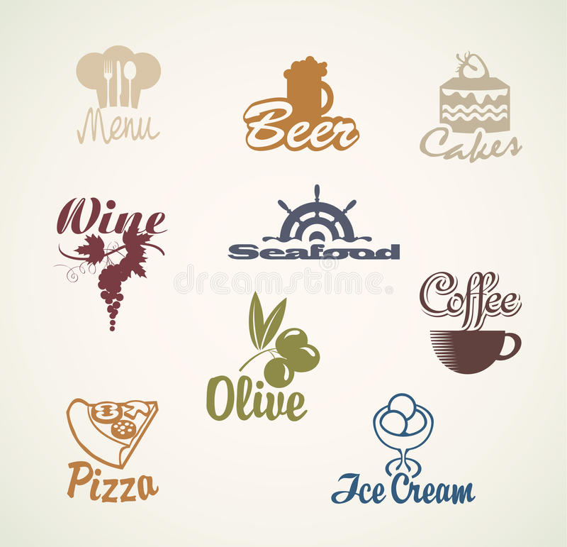 Jedzenie i napoje royalty ilustracja