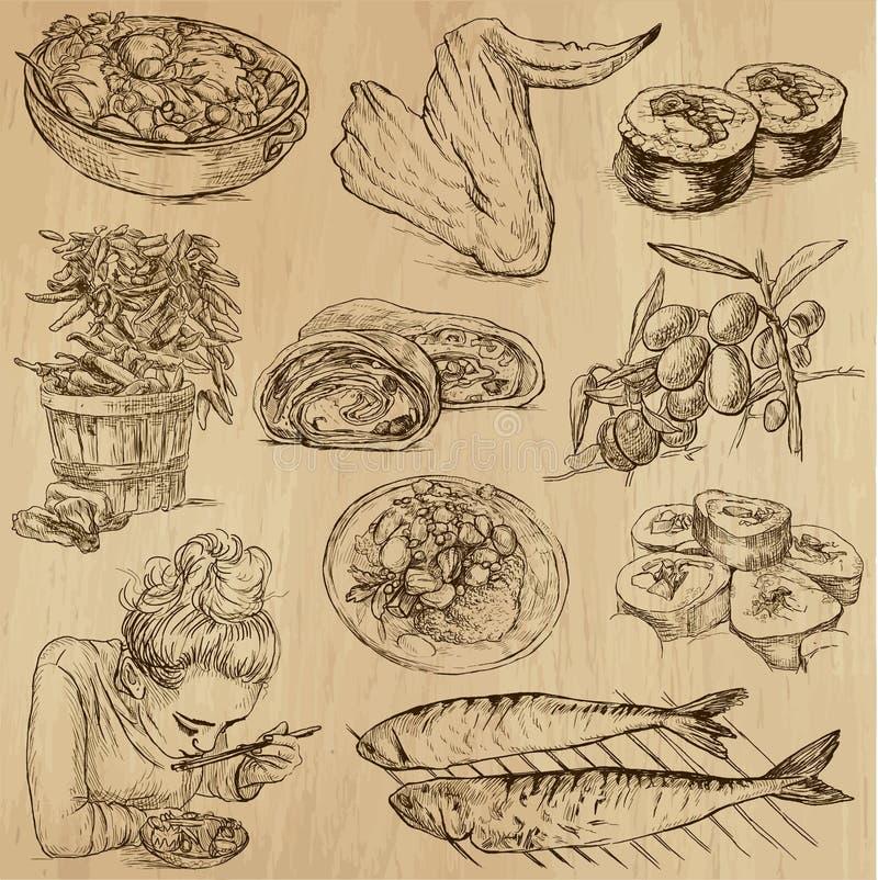 Jedzenie i napoje, paczka 10 ilustracji