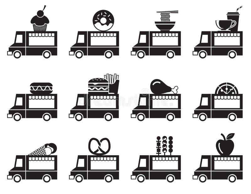 Jedzenie ikony ciężarowy set ilustracji
