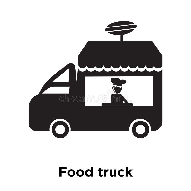 Jedzenie ikony ciężarowy wektor odizolowywający na białym tle, loga concep royalty ilustracja