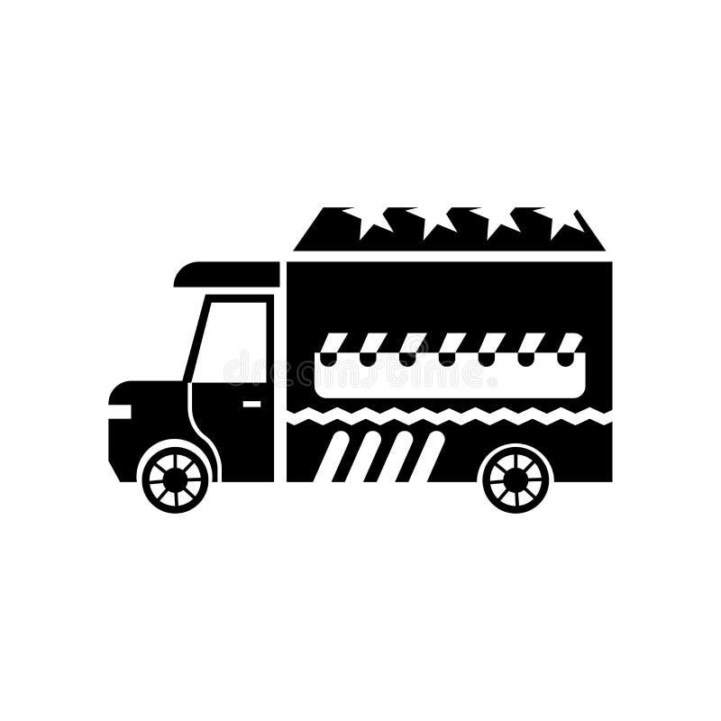 Jedzenie ikony wektoru ciężarowy znak i symbol odizolowywający na białym tle, jedzenie logo ciężarowy pojęcie ilustracja wektor