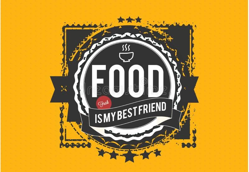 Jedzenie jest mój bestfriend ilustracji