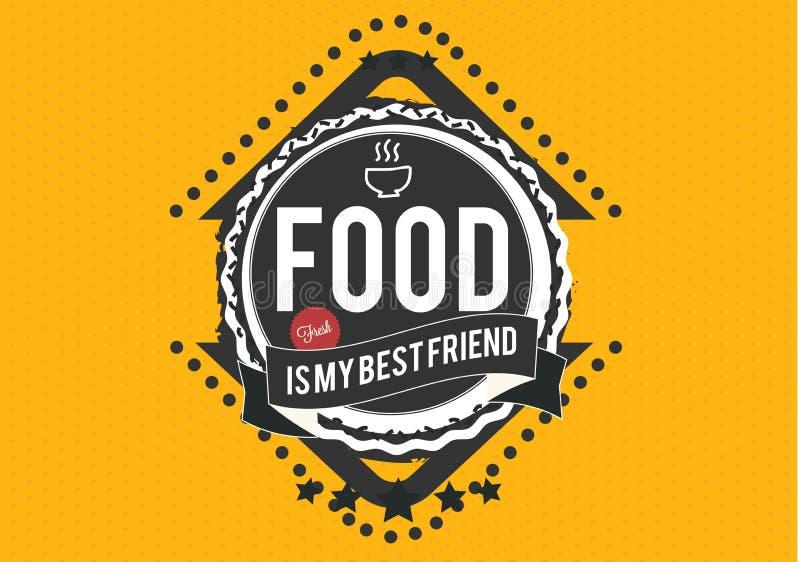 Jedzenie jest mój bestfriend ilustracja wektor